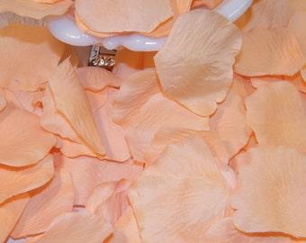 500 BULK Rose Petals - Artificial Petals - Peach - Bridal Shower Wedding Decoration - Flower Petals - Table Scatter