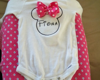 Disney Frozen Princess Elsa and Ana,Minnie, Mickie,Hello Kitty,DonaldDuck 3 D custom toddler or infant onsie