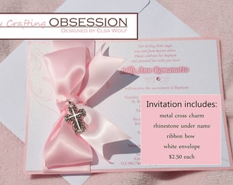 Baptism, First Communion, Confirmation, Quincenera, Sweet Sixteen Invitations in Spanish or English modern and affordable