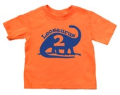 Personalized Birthday Dinosaur Shirt - Any age and name - you pick the colors! Brontosaurus