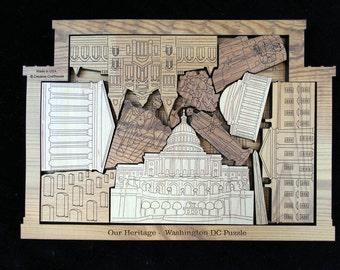 Washington DC Puzzle - Artistic & Challenging Brain Teaser