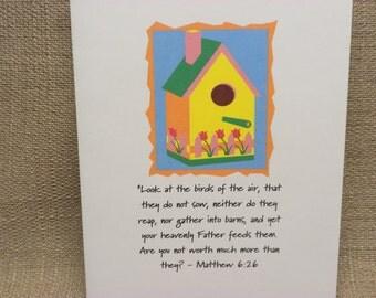 Matthew 6:26 Note Cards