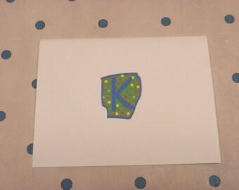Fun Dot Initial Note Cards