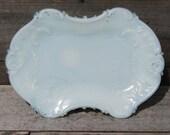 Antique Opal Glass Plate