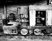 Black and White Photo Fine Art Photography Print  Black and White Old train