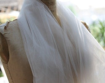 Illusion Tulle In OYSTER .. 3 Yards ..54 Inches Wide.. Bridal Veiling
