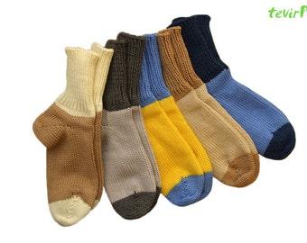Socks  4-8 years 100% merino wool warm new baby children toddler BOY GIRL unisex