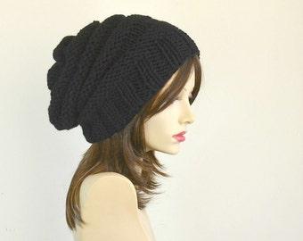 Winter Hat Gift Women Womens Hats Slouchy Beanie Black Beanie Girlfriend Gifts For Her