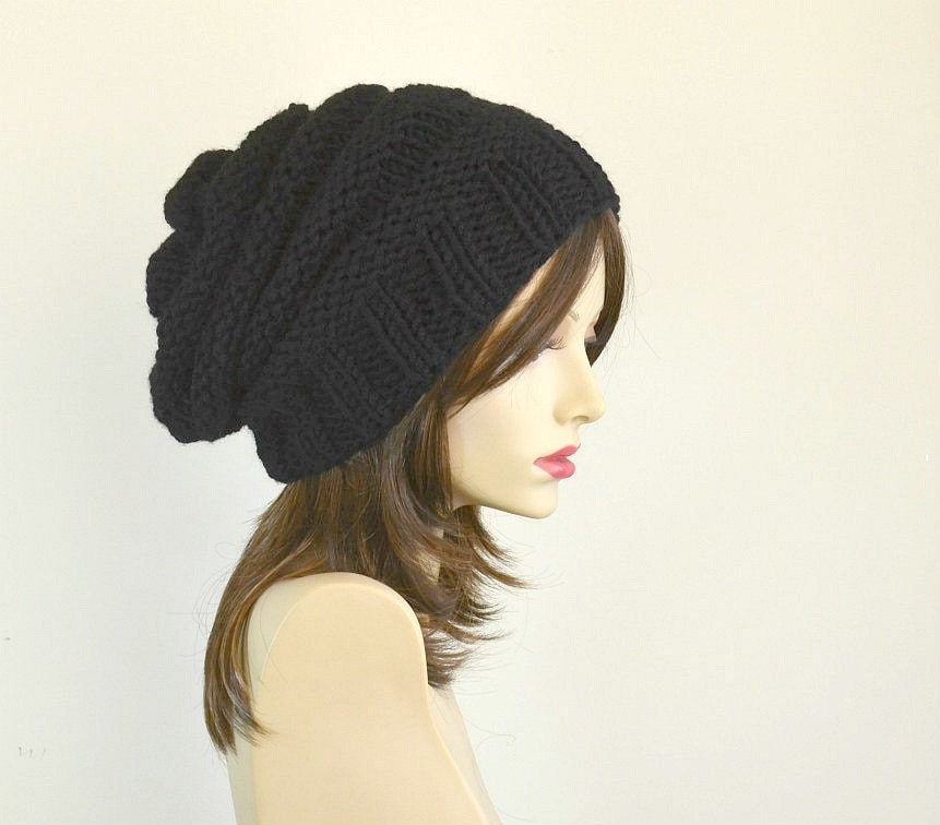 winter hat gift womens hats slouchy beanie black beanie