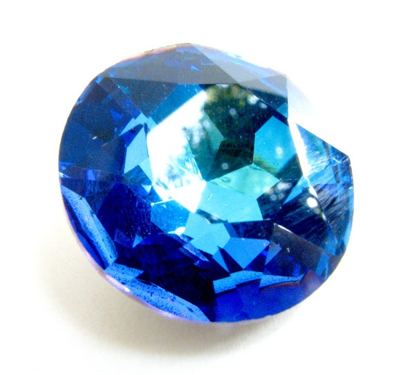 Bermuda Blue Large Bright Tropical Ocean Blue Round