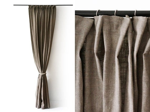Articoli simili a piega di pizzico tenda doccia tessuto for Tende per doccia