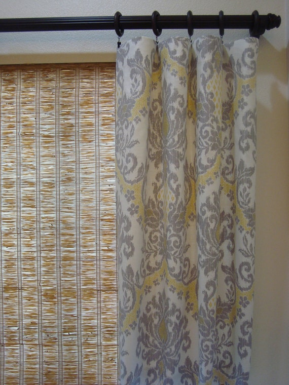 Items Similar To Waverly Curtains Damask Curtain Panels