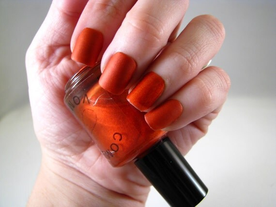 Finally Ginger matte nail polish by Comet Vomit