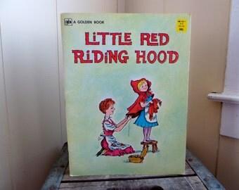 Vintage Little Red Riding Hood, A Golden Book, 1960s Chlldren's Book