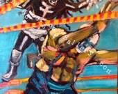 Spirit of Jazz vs Clown Punk, original painting