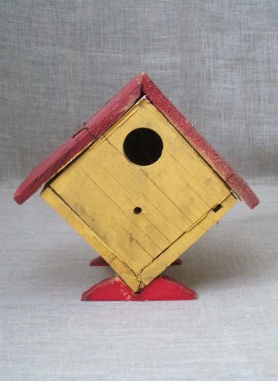 Consider, that vintage bird house paintings