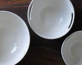handmade white nesting serving bowls //set of 3//
