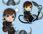 Hiccup and Toothless from How to Train Your Dragon Phone Charm