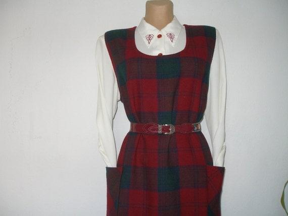 Sarafan Dress Vintage Warmer Eur44 46 Uk16 18 Wool