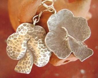 Thai Karen Hilltribe Silver Earrings - The Lovely Leaves (1)