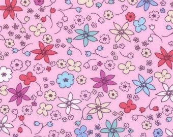 Half Yard Hello Petal Dinky in Petal Pink, Aneela Hoey, Moda Fabrics, 100% Cotton Fabric, 18564 14