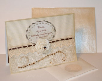 Sympathy Card - Gorgeous Sympathy Card -  Sorry for your Loss