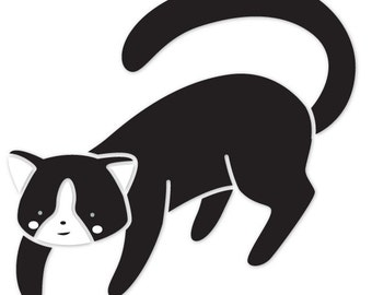 Cat Wall Stencil for Painting Kids or Baby Room Mural  (SKU292-istencil)