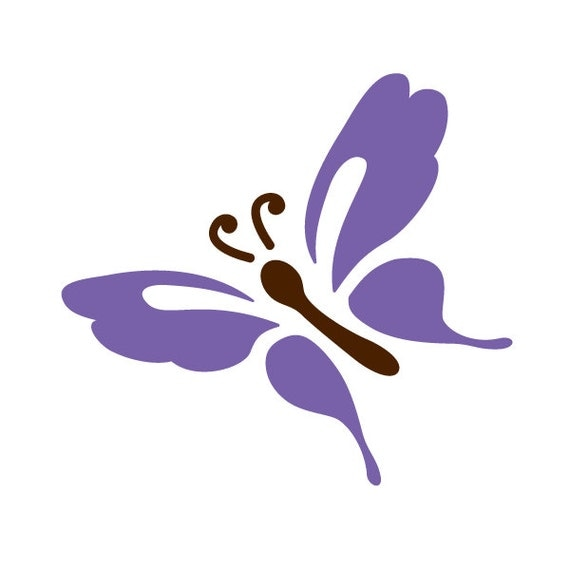 Butterfly Stencil For Painting Kids Or Baby Room Mural