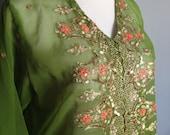 Vintage sheer Indian dress