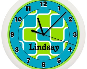 Green and Blue Wall Clock