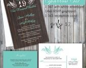 Sparrow Wedding Invitations