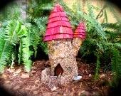 Fairy castle, fairy house, fairy cottage, door opens, miniature house, garden art, mysterious