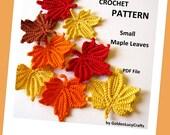 Small Maple Leaves Crochet Pattern