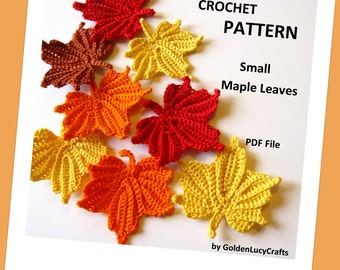 Small Maple Leaves Crochet Pattern