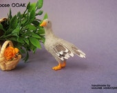 Miniature Dollhouse Goose OOAK - made by Malinik Miniatures