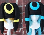 Umbreon and Shiny Umbreon Pokemon Hat - Adult, Teen, Kid - A winter, nerdy, geekery gift!