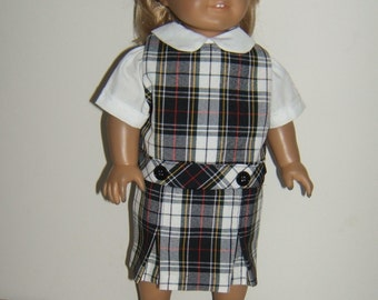 18 inch doll School Jumper Plaid 8B or Marymount