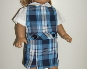 18 inch Doll School Uniform Plaid 76