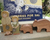 Wood Toy-Book Set Blueberries for Sal Story Book Series Waldorf Inspired