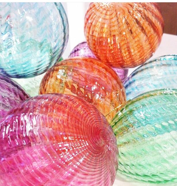 Glass ball christmas ornament suncatcher holiday decor
