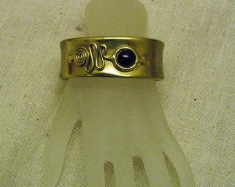 Vintage 1980's Modern Brass Cuff Style Bracelet