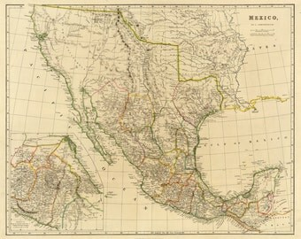 Vintage Map - Mexico, 1832