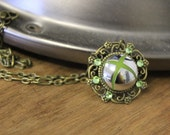 CLEARANCE Xbox 360 button chrome necklace