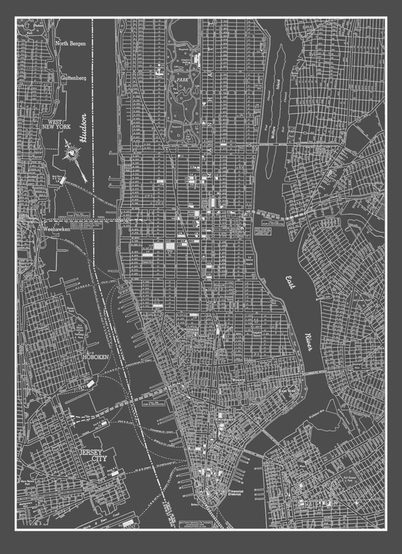 stadtplan new york city new york city manhattan street map. Black Bedroom Furniture Sets. Home Design Ideas