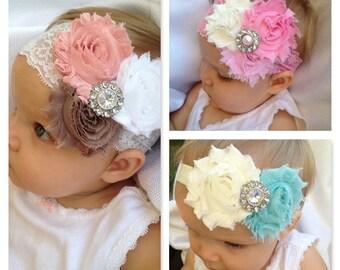 Lace baby Headbands - set of 3!