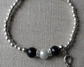 043 Carcinoid Cancer Awareness Bracelet