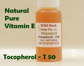 VITAMIN E, Pure (Tocopherols - T50) Top Quality, Fresh (1/2 oz. Or 1 oz.)