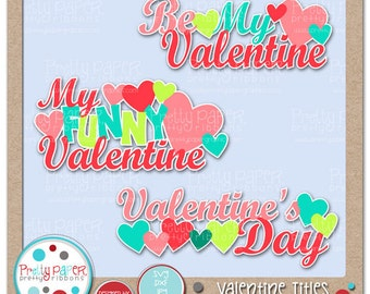Valentine Titles Cutting Files & Clip Art - Instant Download