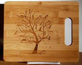 Dachshund, Weiner Dog, Sausage Dog, Cutting Board, Tree of Life, Custom Engraved