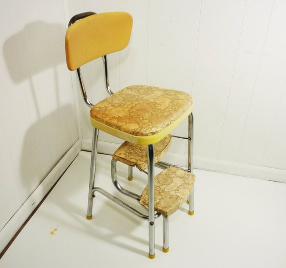 Retro 50s Vintage Step Stool Kitchen Stool Chair